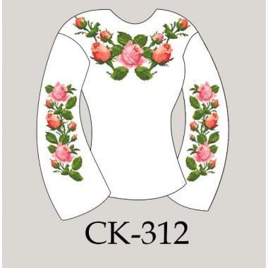 """Заготовка жіночої блузки під вишивку """"Переплетені троянди"""""""