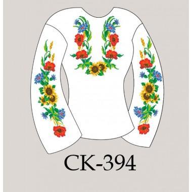 """Заготовка жіночої блузки під вишивку """"Цвіт ланів"""""""