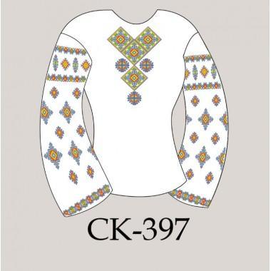"""Заготовка жіночої блузки під вишивку """"Карпатські зорі"""""""
