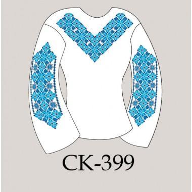 """Заготовка жіночої блузки під вишивку """"Зірковий орнамент"""" (синій)"""