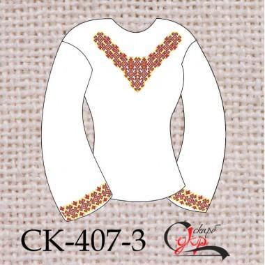 """Заготовка жіночої блузки під вишивку """"Зірковий орнамент"""" (червоний)"""