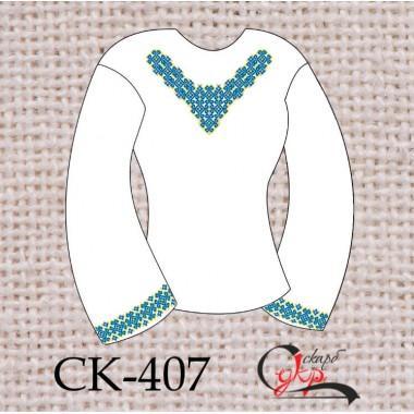 """Заготовка жіночої блузки під вишивку """"Зірковий орнамент"""" (блакитний)"""
