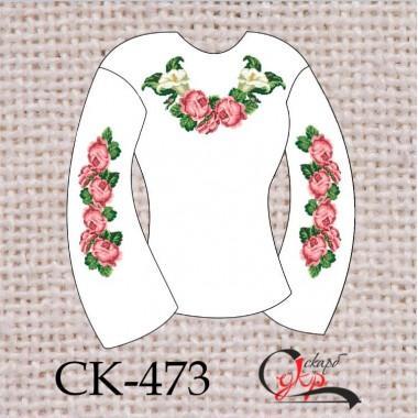"""Заготовка жіночої блузки під вишивку """"Трояндова ніжність"""""""
