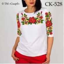 """Заготовка жіночої блузки під вишивку """"Квіткові барви"""""""
