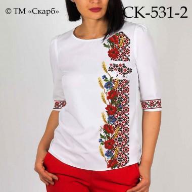 """Заготовка жіночої блузки під вишивку """"З Україною в серці"""" (варіант 2)"""