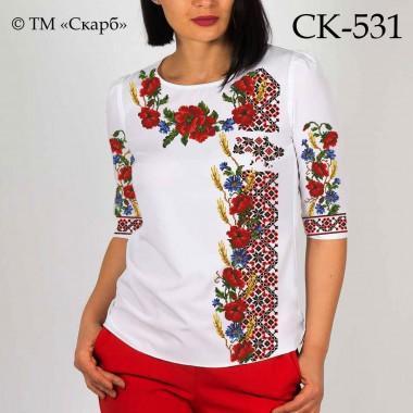"""Заготовка жіночої блузки під вишивку """"З Україною в серці"""""""