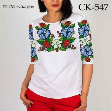"""Заготовка жіночої блузки під вишивку """"Класичні квіти давнини"""""""
