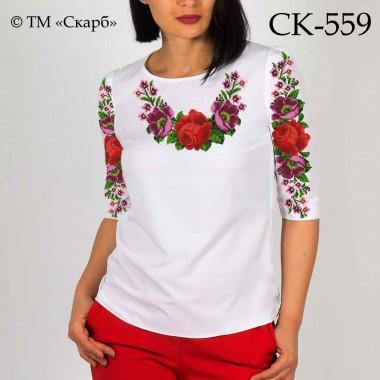 """Заготовка жіночої блузки під вишивку """"Цариця квітів"""""""