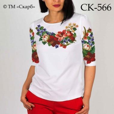 """Заготовка жіночої блузки під вишивку """"Квітковий барвінок"""""""