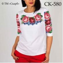 """Заготовка жіночої блузки під вишивку """"Ніжність троянд"""""""