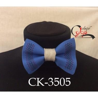 """Краватка-метелик під вишивку """"Червоно-чорна доріжка"""" (блакитна)"""