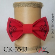 """Краватка-метелик під вишивку """"Морозні візерунки"""" (червона)"""