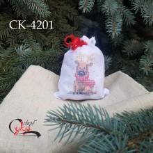 """Подарункова торбинка """"Різдвяний олень"""""""