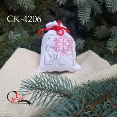 """Подарункова торбинка """"Казкові сніжинки"""""""