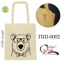 """Еко-сумка під вишивку """"Ведмідь в окулярах"""""""