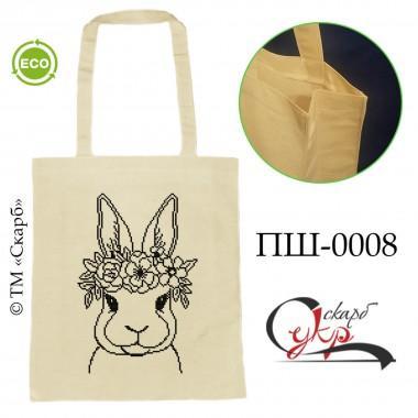 """Еко-сумка під вишивку """"Кролик з віночком"""""""