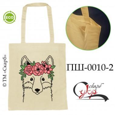 """Еко-сумка під вишивку """"Лисиця з віночком"""" (кольорова)"""