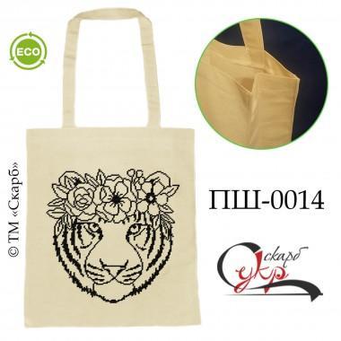 """Еко-сумка під вишивку """"Тигр з віночком"""""""