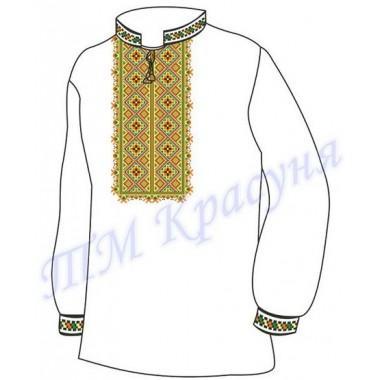 """Заготовка чоловічої вишиванки - Геометричний орнамент """"Кубик-3"""""""