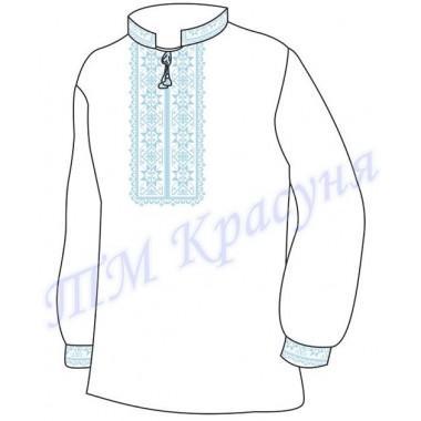 """Заготовка чоловічої вишиванки """"Восьмикутна зірка"""" (блакитна)"""