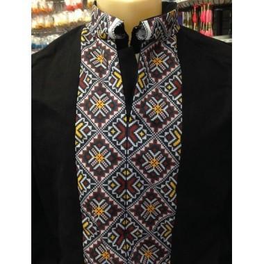 """Заготовка чоловічої сорочки з нанесеним малюнком під вишивку """"Кольоровий орнамент"""""""