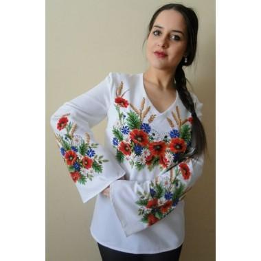 """Заготовка жіночої сорочки з нанесеним малюнком під вишивку """"Щедрі дари ланів"""""""