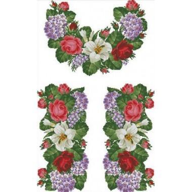 """Заготовка жіночої сорочки з нанесеним малюнком під вишивку """"Краса квітів"""""""