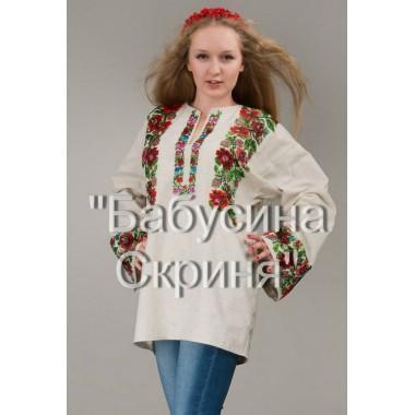 """Заготовка жіночої сорочки з нанесеним малюнком під вишивку """"Багатство квітів"""""""