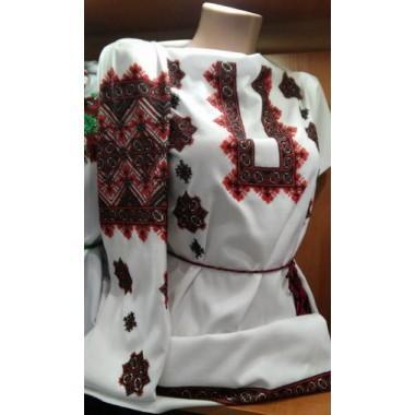 """Заготовка жіночої сорочки з нанесеним малюнком під вишивку """"Восьмикутні зірки в орнаменті"""""""