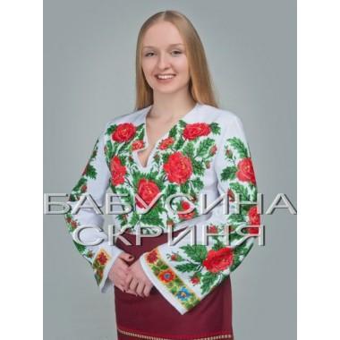 """Заготовка жіночої сорочки з нанесеним малюнком під вишивку """"Цвіт маків"""""""