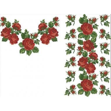 """Заготовка жіночої сорочки з нанесеним малюнком під вишивку """"Мелодія троянд"""""""